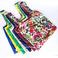Эко сумка (экосумка шоппер, пляжная) для покупок, продуктов Faina Torba тканевая с принтом (ft-0002)