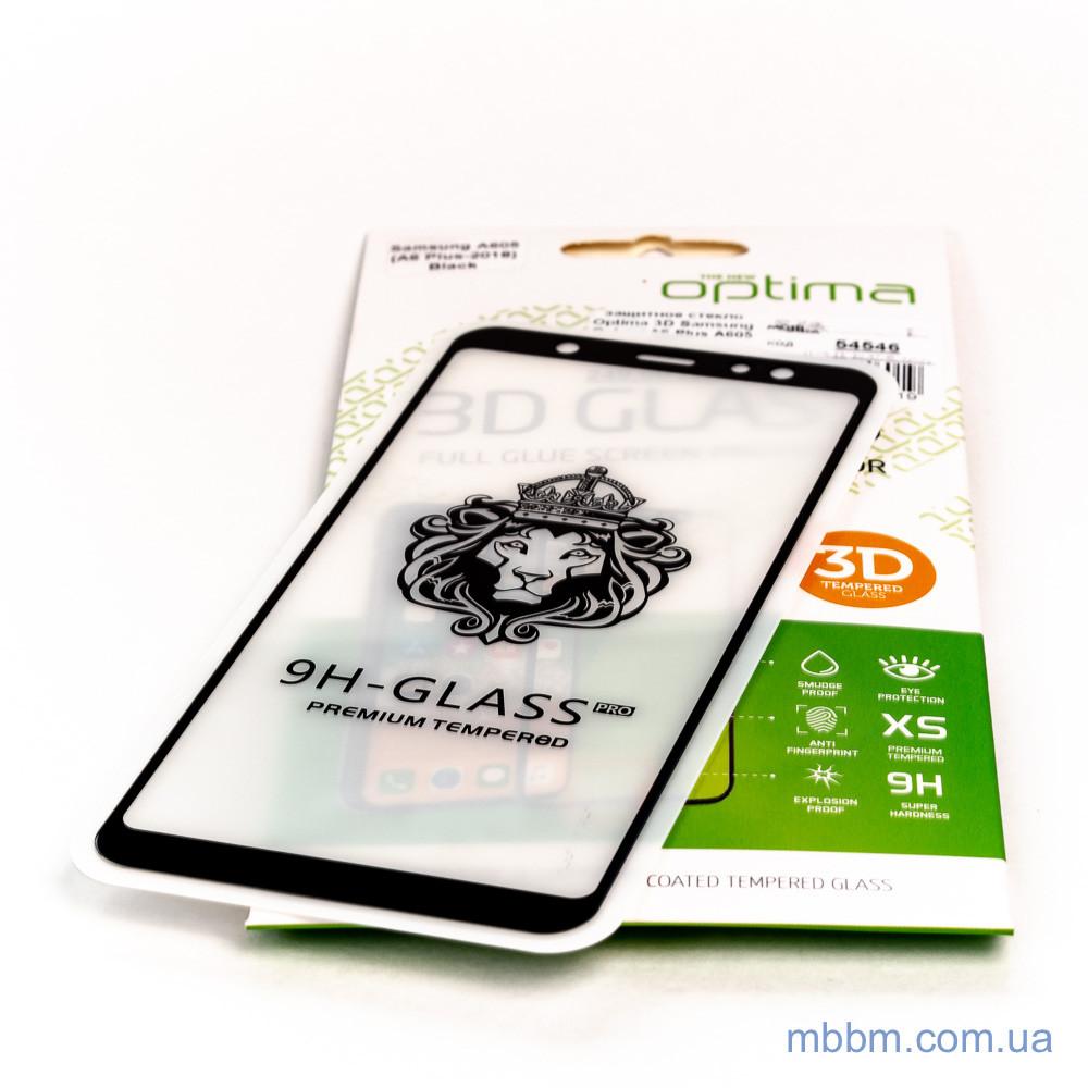 Защитное стекло Optima 3D Samsung Galaxy A6 Plus A605 black