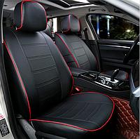 Чехлы на сиденья Форд Фокус 2 (Ford Focus 2) (модельные, экокожа, отдельный подголовник)