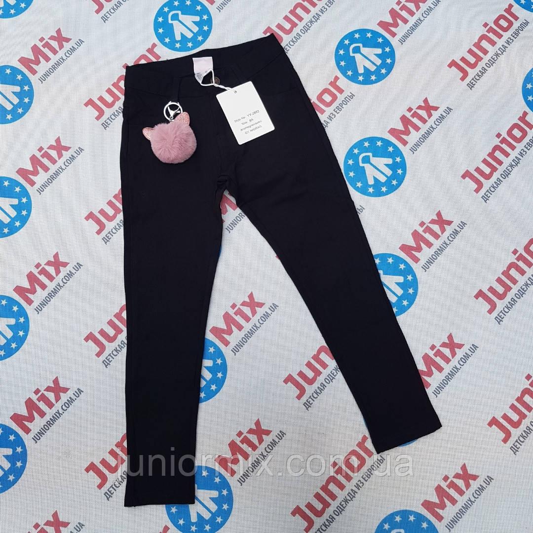 Подростковые брюки для девочек черного цвета оптом F&D