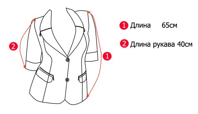 Основные замеры женского пиджака Змейка-1