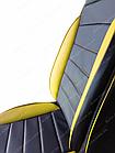 Чехлы на сиденья Фиат Гранде Пунто (Fiat Grande Punto) (универсальные, кожзам, пилот СПОРТ), фото 7