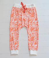 Летние штанишки гаремы абстракция. Унисекс. Размеры: 98,104 см