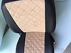 Чехлы на сиденья Фиат Добло (Fiat Doblo) (универсальные, экокожа+Алькантара, с отдельным подголовником), фото 7