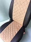 Чехлы на сиденья Фиат Добло (Fiat Doblo) (универсальные, экокожа+Алькантара, с отдельным подголовником), фото 8