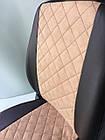 Чехлы на сиденья Фиат Добло (Fiat Doblo) (универсальные, экокожа+Алькантара, с отдельным подголовником), фото 9