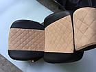 Чехлы на сиденья Фиат Добло (Fiat Doblo) (универсальные, экокожа+Алькантара, с отдельным подголовником), фото 10