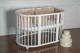 Дитяче ліжечко-трансформер 9 в 1 Pite White (Біле)
