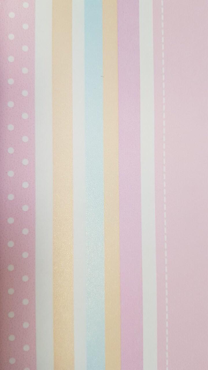 Обои виниловые на флизелиновой основе G.L.Design 23197 COLOURFUL детские полосы радуга