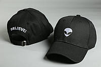 Кепка черная Alien Believe логотип вышивка, фото 1