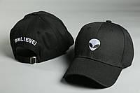 Кепка чёрная Alien Believe логотип вышивка, фото 1