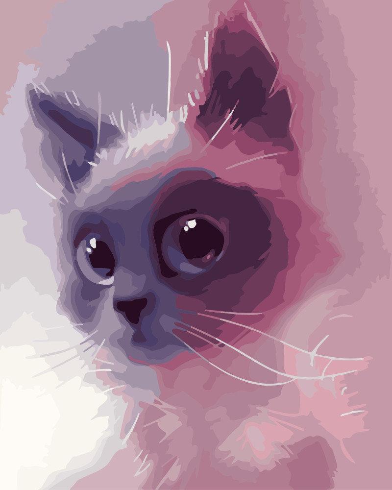Картина по номерам Сиамский котенок 40 х 50 см (BRM7999)