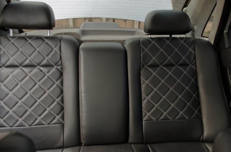 Чехлы на сиденья Дачия Логан МСВ (Dacia Logan MCV) (модельные, 3D-ромб, отдельный подголовник)