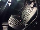 Чехлы на сиденья Дачия Логан МСВ (Dacia Logan MCV) (модельные, 3D-ромб, отдельный подголовник), фото 3