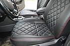 Чехлы на сиденья Дачия Логан МСВ (Dacia Logan MCV) (модельные, 3D-ромб, отдельный подголовник), фото 7