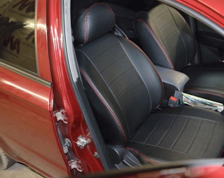 Чехлы на сиденья Дачия Логан МСВ (Dacia Logan MCV) (универсальные, экокожа Аригон)