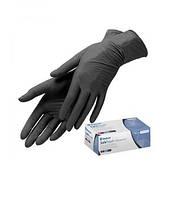 Перчатки Нитриловые 100 шт. (Черная) S (50пар)