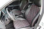 Чехлы на сиденья Ситроен С4 (Citroen C4) (модельные, 3D-ромб, отдельный подголовник), фото 2
