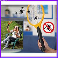 Электрическая мухобойка в виде теннисной ракетки на батарейках