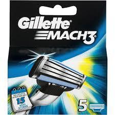 Катріджі для гоління Gillette Mach 3 (5шт.) тільки оригінал.