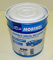 Новая фасовка! Автоэмаль металлик Mobihel (Мобихел) 690 Снежная королева  0,5 л