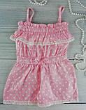 Комбинезон для девочек. Горох Розовый Хлопок Breeze Турция 6 лет, 116 см, фото 2