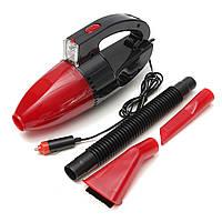 Компактный автомобильный пылесос Car Vacuum Cleaner с фонариком GFJ897G Красный (10gad_krp200ljh)