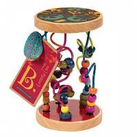 Развивающая деревянная игрушка - РАЗНОЦВЕТНЫЙ ЛАБИРИНТ Battat BX1155