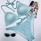 Купальник Пуш-Ап Victoria's Secret PINK Push-Up Triangle Top р. L, Голубой, фото 6