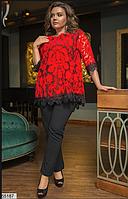 Нарядный вечерний брючный костюм в  большом размере Размеры 48-52, 54-58