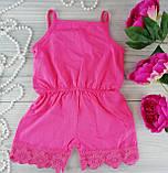 Комбинезон для девочек. Розовый Хлопок Breeze Турция 4 года, 104 см, фото 2
