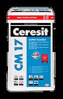 Клей для плитки Ceresit эластичный СМ-17 25 кг