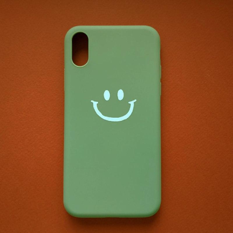 Чехол для Apple iPhone XS Green Smile