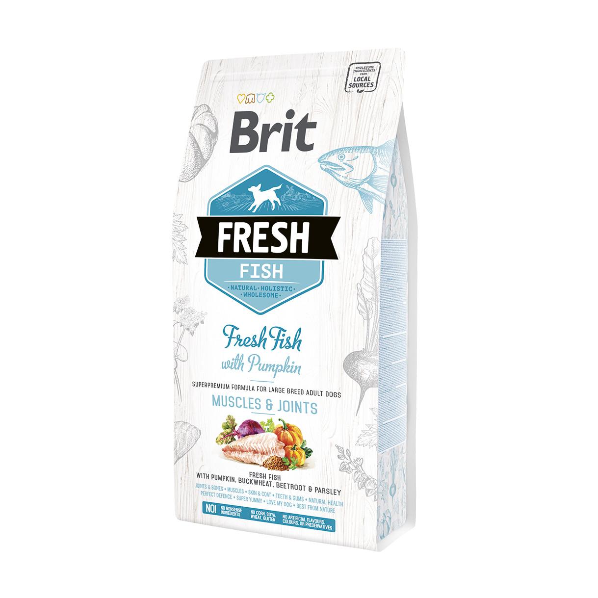 Brit Fresh Fish & Pumpkin Adult Large корм со свежей рыбой и тыквой для собак крупных пород, 2.5 кг