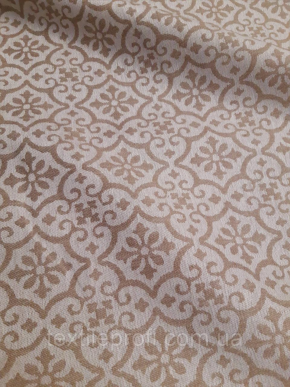 """Льняная плотная скатертная ткань """"Геометрика"""" (шир. 160 см), фото 1"""