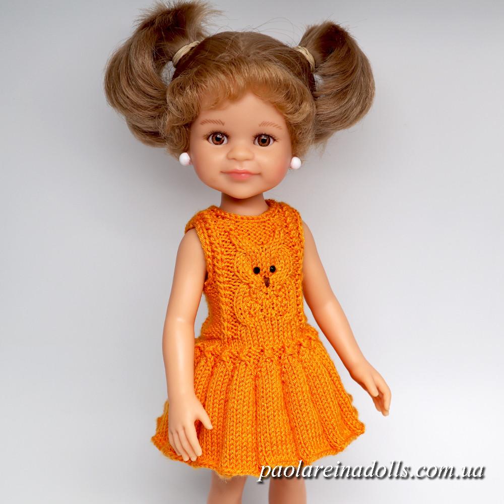 """Платье """"Совушка"""" для кукол Паола Рейна"""