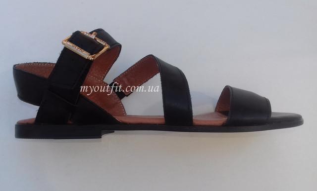 Жіночі шкіряні сандалі чорний