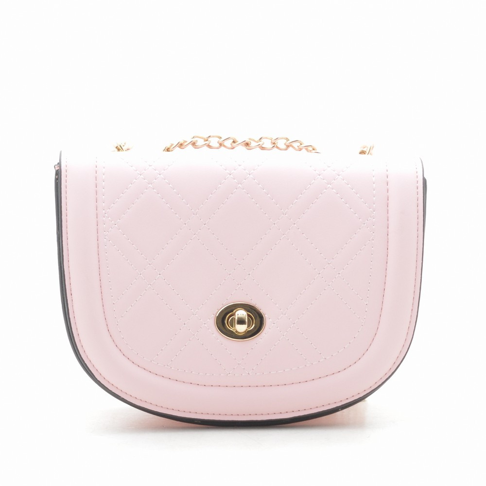 Женский клатч кремово розовый LoveDream на золотистой цепочке 179575