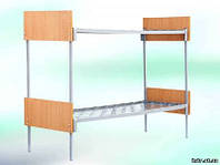 Кровать 2х  ярус.спинка Дсп/ металева