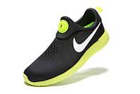 Мужские кроссовки Nike Roshe Run Slip On черные