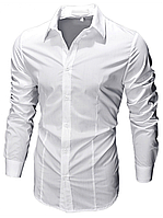 Рубашка мужская приталеная Slim Fit