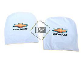 Чехол подголовника с логотипом Chevrolet белый (2 шт.)