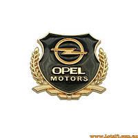 Авто значок Opel Motors (3D наклейка на автомобиль, бус, машину, капот, крылья, багажник)