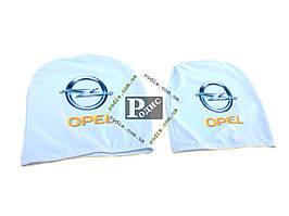 Чехол подголовника с логотипом Opel белый (2 шт.)