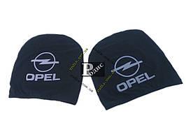 Чехол подголовника с логотипом Opel черный (2 шт.)