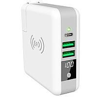 Универсальная сетевая зарядка с функцией  Power Bank и QI для iPhone 8 X XS Max samsung millet
