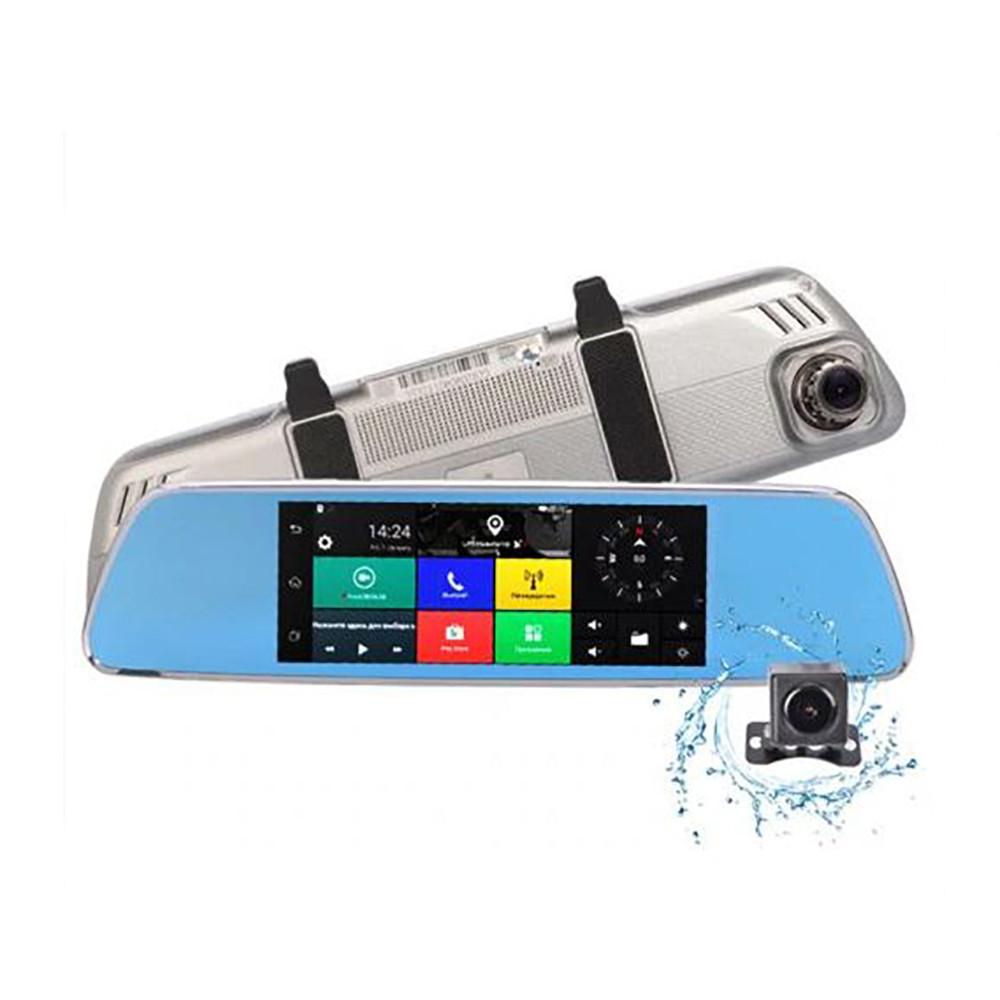 Видеорегистратор зеркало V200 + ПОДАРОК: Настенный Фонарик с регулятором BL-8772A