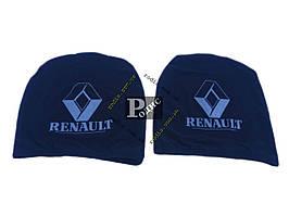Чехол подголовника с логотипом Renault черный (2 шт.)