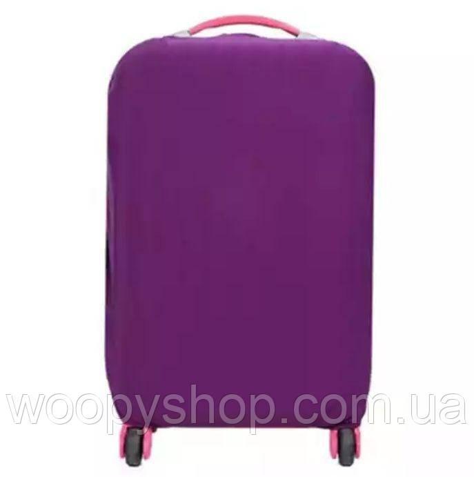 Чехол для чемодана. Путешествия.  М фиолетовый
