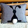 Подушка декоративная ручной работы 50 см
